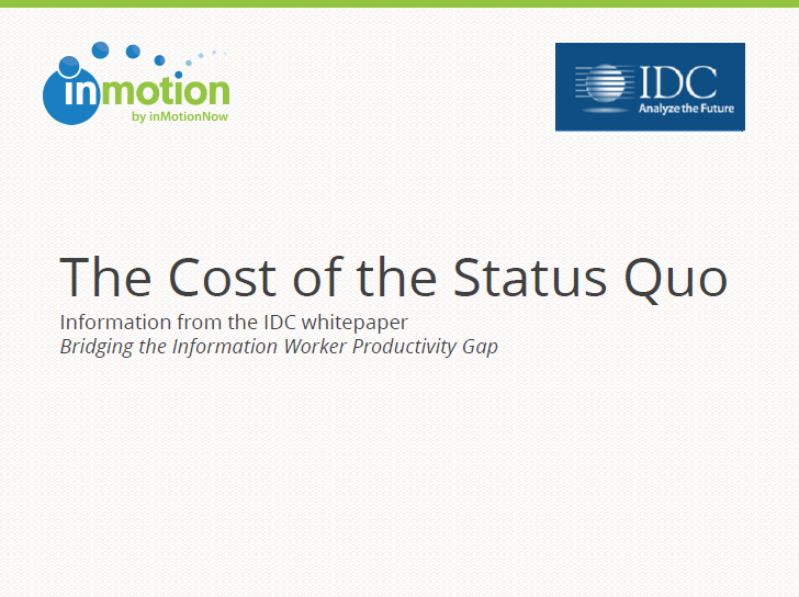the cost of status quo